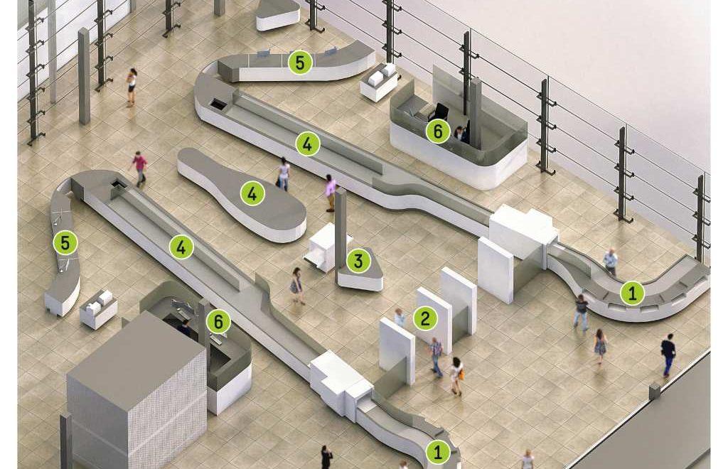 """Am Flughafen Köln/Bonn brechen neue Zeiten für Passagiere und Sicherheitskräfte an. Dort wird in wenigen Tagen die innovative Sicherheitskontrollfläche """"Easy Security"""" in den Probetrieb genommen. """"Easy Security"""" vereint den neuesten Stand der Technik mit Funktionalität und Ergonomie zu einem ganzheitlichen Konzept: Bei konstant hohem Sicherheitsniveau soll der Kontrollprozess sowohl für Passagiere als auch für das Personal einfacher, effizienter und zugleich angenehmer gestaltet werden. Weiterer Text über ots und www.presseportal.de/nr/113858 / Die Verwendung dieses Bildes ist für redaktionelle Zwecke honorarfrei. Veröffentlichung bitte unter Quellenangabe: """"obs/BDL"""""""
