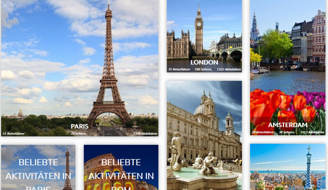 Visit a City – Eine Website mit Tourvorschlägen