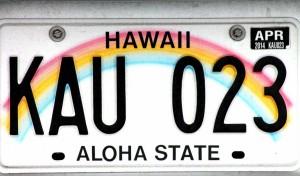 Hawaii-Licenseplate-klein
